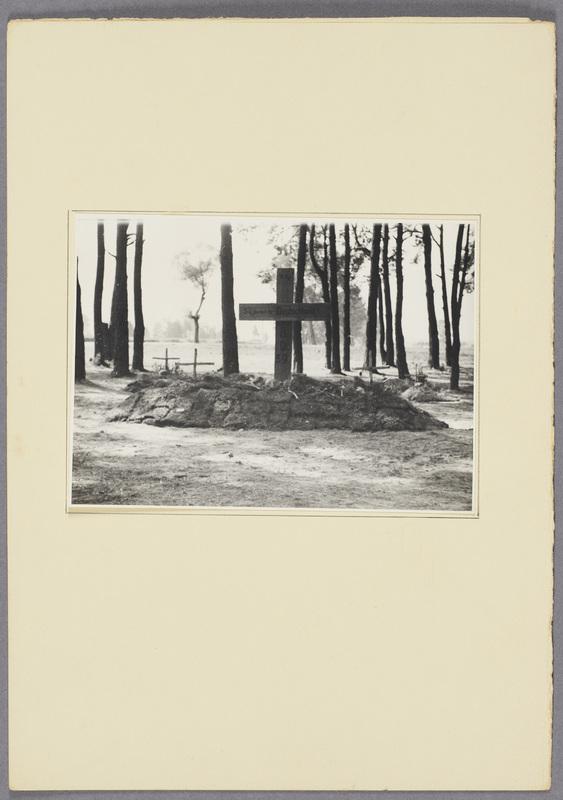 Massengrab für deutsche Wehrmachtssoldaten im Wald, recto
