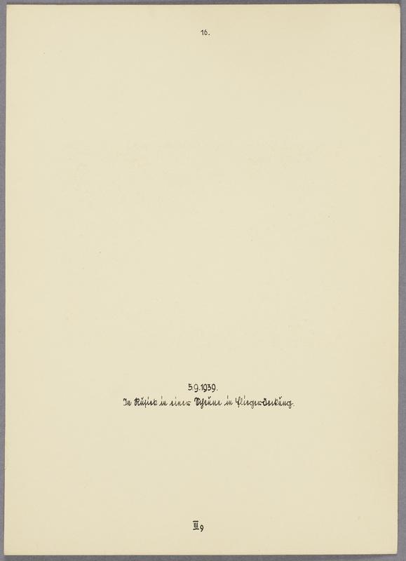 Kurt Seeliger (v. l.) und Angehörige der Beobachtungs-Abteilung 13 in einer Scheune, verso