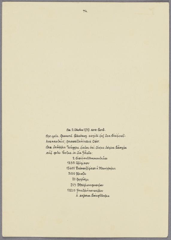 Die Kapitulation des polnischen Generals Franciszek Kleeberg, verso