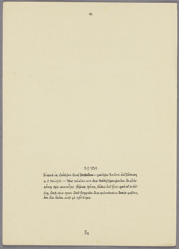 """Die Beobachtungs-Abteilung 13 in einem """"volksdeutschen""""  Dorf , verso"""