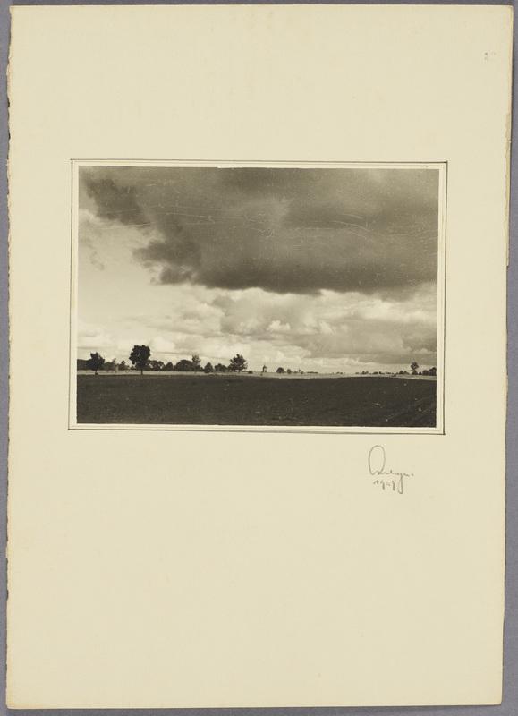 Blick über die Felder, recto