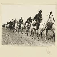 Polnische Kavalleristen in Kriegsgefangenschaft