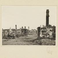 Stark zerstörte polnische Stadt